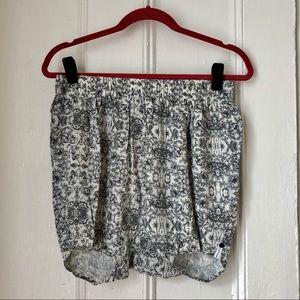 Pants - ONE Blue and White Printed Shorts